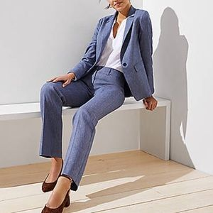 The Loft Marisa Trouser in Blue - PETITE SIZE